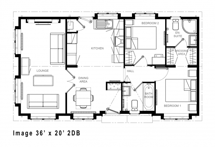 Image 36' x 20' 2DB floorplan